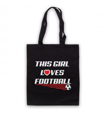 This Girl Loves Football Tote Bag